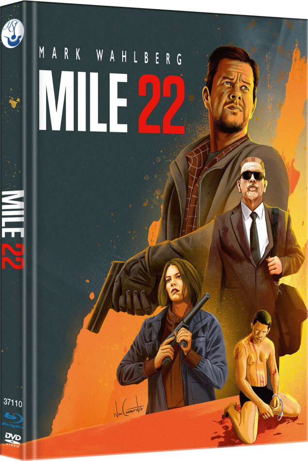 Mile 22 (2018) (Cover A, Limited Edition, Mediabook, Blu-ray + DVD)