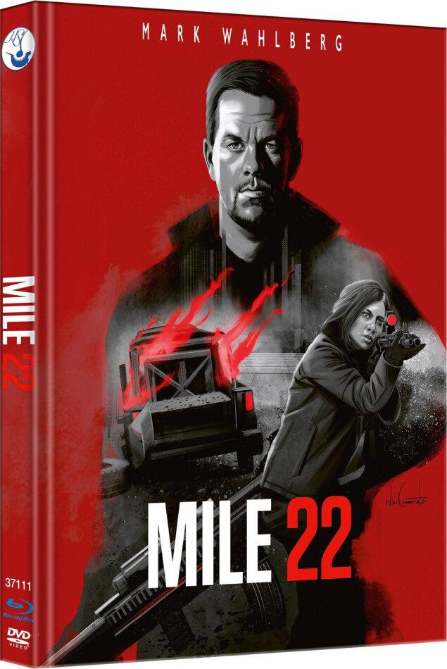 Mile 22 (2018) (Cover B, Edizione Limitata, Mediabook, Blu-ray + DVD)