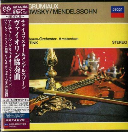 Peter Iljitsch Tschaikowsky (1840-1893), Felix Mendelssohn-Bartholdy (1809-1847), Bernard Haitink, Arthur Grumiaux & Concertgebow Orchestra Amsterdam - Violin Concertos (Japan Edition, SACD)
