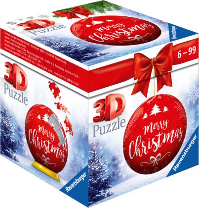 Puzzle-Ball Weihnachtskugel Merry Christmas (Kinderpuzzle)