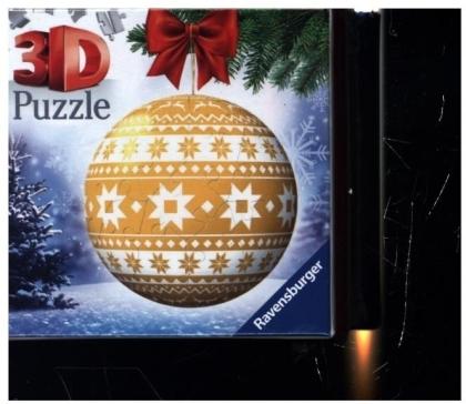 Puzzle-Ball Weihnachtskugel Norweger Muster (Kinderpuzzle)