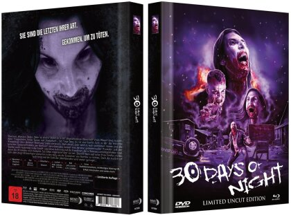30 Days of Night (2007) (Cover A, Collector's Edition Limitata, Mediabook, Uncut, Blu-ray + DVD)