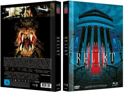 Das Relikt - Museum der Angst (1997) (Cover B, Limited Collector's Edition, Mediabook, Uncut, Blu-ray + DVD)