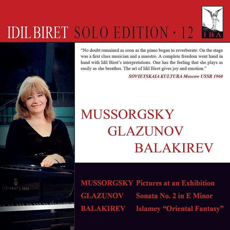 Modest Mussorgsky (1839-1881), Alexander Glazunov (1865-1936), Mili Balakirev (1899-1977) & Idil Biret - Idil Biret Solo Edition Vol. 12