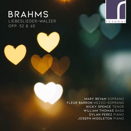 Johannes Brahms (1833-1897), Mary Bevan, Fleur Barron & Nicky Spence - Liebeslieder Walzer. Opp. 52 & 65