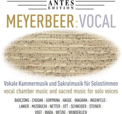 Giacomo Meyerbeer (1791-1864) - Vocal Works - Vokale Kammermusik und Skralmusik für Solostimmen (2 CDs)