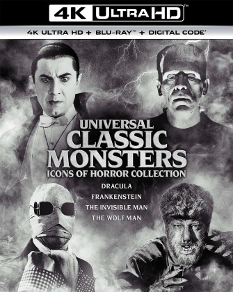 Universal Classic Monsters - Icons Of Horror Collection (4 4K Ultra HDs + 4 Blu-rays)