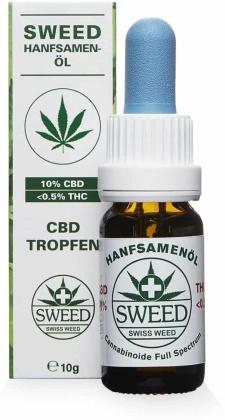 Sweed Hanfsamenöl (CBD: 10% / THC: 0.5%) - 10ml