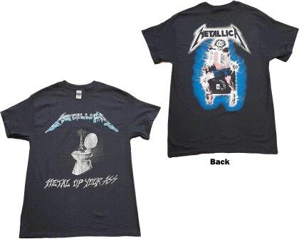 Metallica Unisex T-Shirt - Metal Up Your Ass (Back Print)