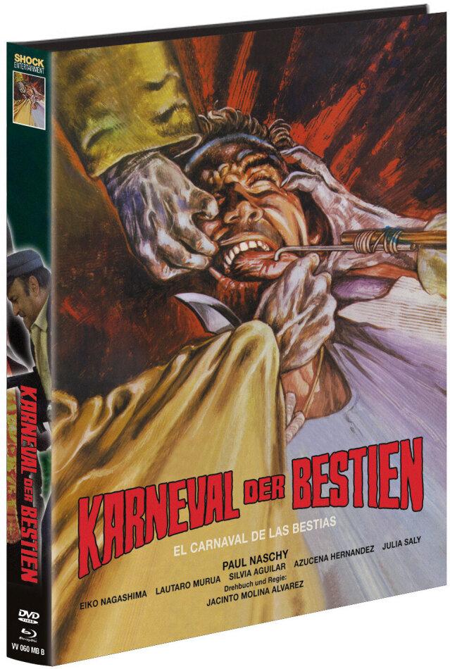 Karneval der Bestien (1980) (Cover B, Limited Edition, Mediabook, Blu-ray + DVD)