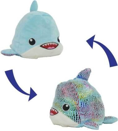 Flip-Rainbow-Shark - Plüschtier zum Wenden
