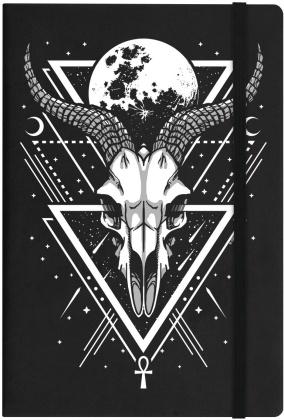 Lunar Skull Black A5 Hard Cover Notebook