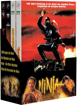 Ninja Collection (Schuber, Limited Edition, Mediabook, Uncut, 4 Blu-rays + 4 DVDs)