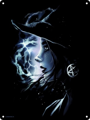 Mystic Witch Mini Tin Sign