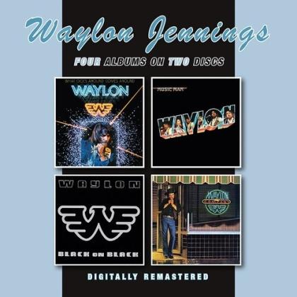 Waylon Jennings - What Goes Around Comes Around / Music Man / Black (BGO, 2 CDs)