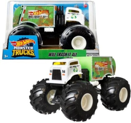 Hot Wheels Monster Truck - Hw Monster Truck 1:24 Will Trash It All