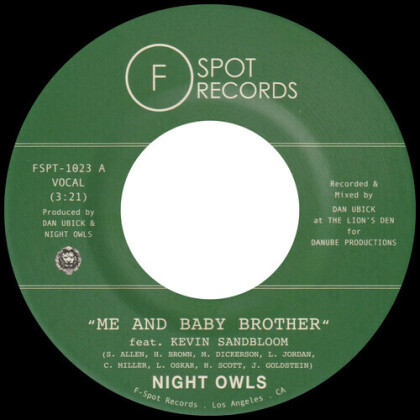 """Night Owls - Me And Baby Brother / School Girl Crush (7"""" Single)"""