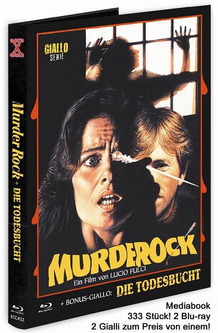 Murder Rock - + Bonus-Giallo: Die Todesbucht (1984) (The X-Rated Italo-Giallo-Series, Cover E, Eurocult Collection, Edizione Limitata, Mediabook, 2 Blu-ray)