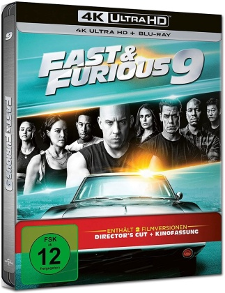 Fast & Furious 9 (2021) (Director's Cut, Kinoversion, Limited Edition, Steelbook, 4K Ultra HD + Blu-ray)