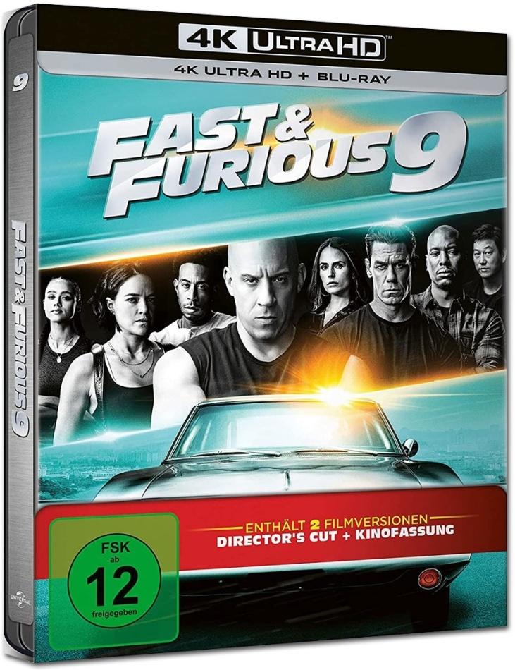 Fast & Furious 9 (2021) (Director's Cut, Cinema Version, Limited Edition, Steelbook, 4K Ultra HD + Blu-ray)