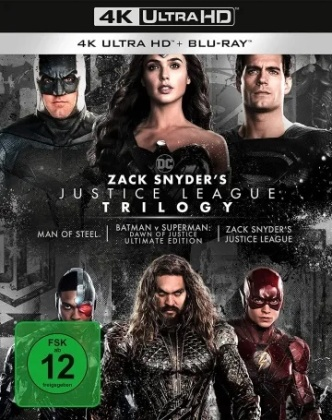 Zack Snyder's Justice League Trilogy (Ultimate Collector's Edition, Limited Edition, 4 4K Ultra HDs + 4 Blu-rays)