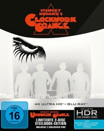 Clockwork Orange (1971) (2 Pins, Limited Edition, Steelbook, 4K Ultra HD + Blu-ray)