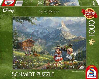 Disney Mickey + Minnie in den Alpen - Puzzle