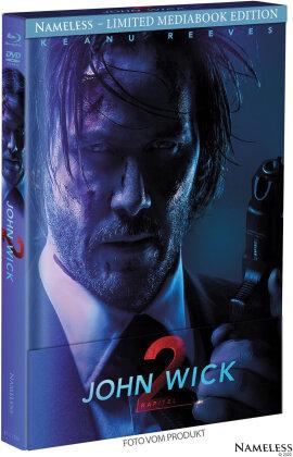 John Wick: Kapitel 2 (2017) (Cover B, Limited Edition, Mediabook, Blu-ray + DVD)
