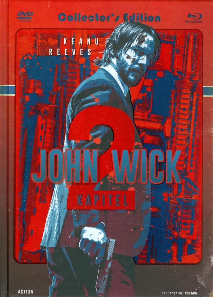 John Wick: Kapitel 2 (2017) (Cover C, Collector's Edition, Edizione Limitata, Mediabook, Blu-ray + DVD)
