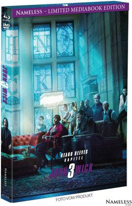 John Wick 3 - Parabellum (2019) (Cover B, Limited Edition, Mediabook, Blu-ray + DVD)