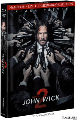 John Wick: Kapitel 2 (2017) (Cover A, Edizione Limitata, Mediabook, Blu-ray + DVD)