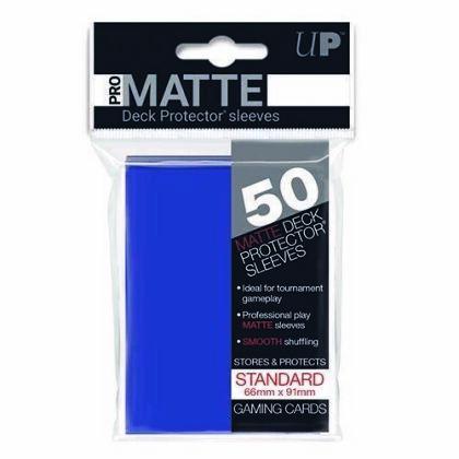 Protèges Cartes 50 pièces - Bleu - PRO-MATTE - Standard - 9 cm