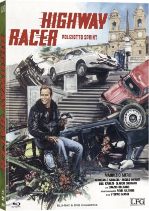 Highway Racer - Poliziotto Sprint (1977) (Cover A, Limited Edition, Mediabook, Blu-ray + DVD)