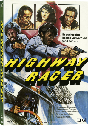 Highway Racer - Poliziotto Sprint (1977) (Cover B, Limited Edition, Mediabook, Blu-ray + DVD)
