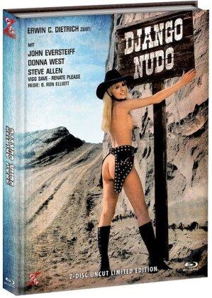 Django Nudo und die lüsternen Mädchen (1968) (Cover D, Limited Edition, Mediabook, Uncut, Blu-ray + DVD)