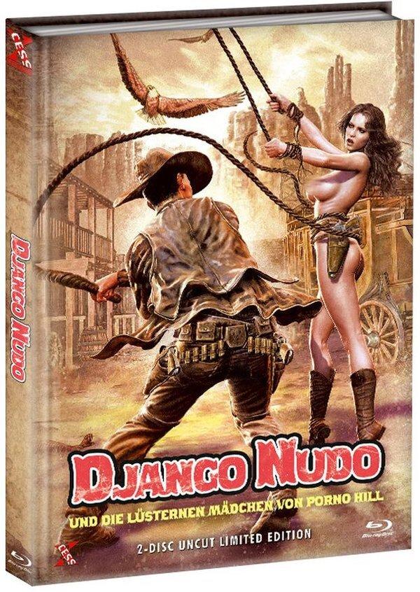 Django Nudo und die lüsternen Mädchen von Porno Hill (1968) (Cover B, Limited Edition, Mediabook, Uncut, Blu-ray + DVD)