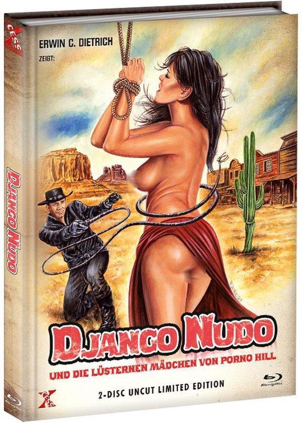 Django Nudo und die lüsternen Mädchen (1968) (Cover A, Limited Edition, Mediabook, Uncut, Blu-ray + DVD)