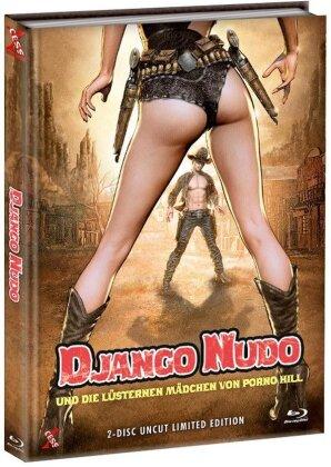 Django Nudo und die lüsternen Mädchen (1968) (Cover C, Limited Edition, Mediabook, Uncut, Blu-ray + DVD)