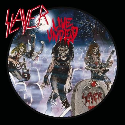 Slayer - Live Undead (2021 Reissue, Metalblade, Blue/White & Black Splatter Vinyl, LP)