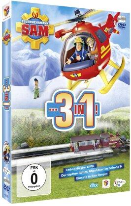 Feuerwehrmann Sam - 3 in 1! - Der tapfere Retter / Abenteuer im Schnee / Einsatz in den Bergen (3 DVDs)