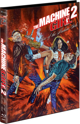 The Machine Girl 2 - Rise of the Machine Girls (2019) (Cover B, Limited Edition, Mediabook, Uncut, Blu-ray + DVD)