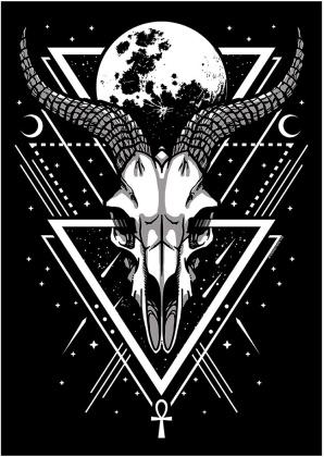 Lunar Skull - Mini Poster