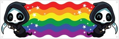 Rainbow Reaper Waves - Slim Tin Sign