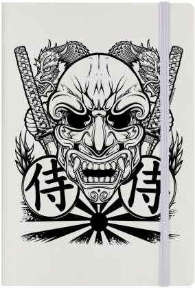 Unorthodox Collective Samurai Mask - Cream A5 Hard Cover Notebook