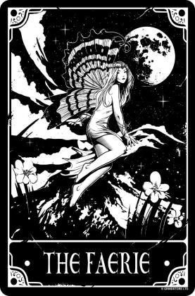 Deadly Tarot - The Faerie - Small Tin Sign