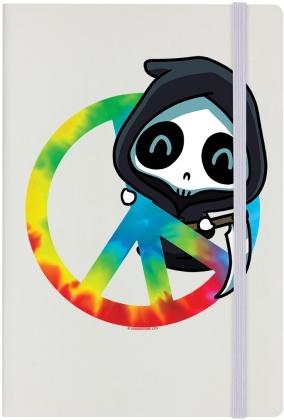 Rainbow Reaper Peace - Cream A5 Hard Cover Notebook