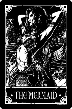 Deadly Tarot - The Mermaid - Small Tin Sign