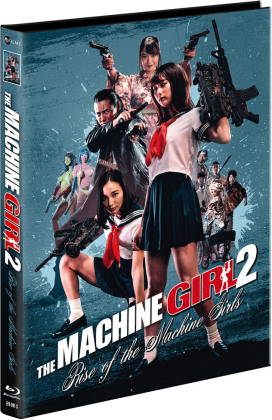 The Machine Girl 2 - Rise of the Machine Girls (2019) (Cover C, Limited Edition, Mediabook, Uncut, Blu-ray + DVD)