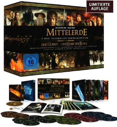 Mittelerde Collection - Der Hobbit & Der Herr der Ringe (Limitierte Sammlerbox, Collector's Edition, 4K Ultra HD + Blu-ray)
