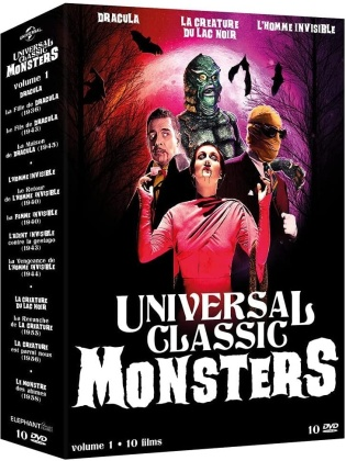 Universal Classic Monsters - Volume 1 - 10 Films (10 DVDs)